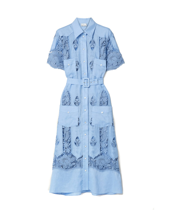 Berly French Blue Lined Dress