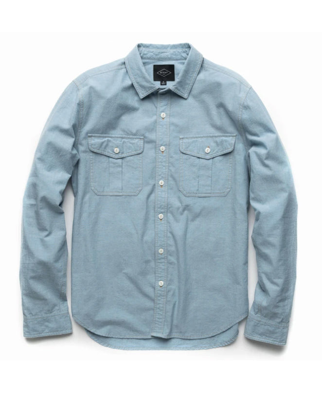 Fields Bleached Chambray Camp Shirt