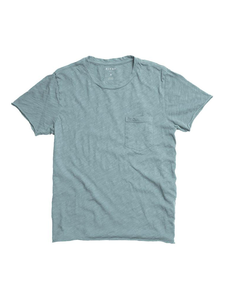 Slub Cotton Pocket Tee - Hawker Blue