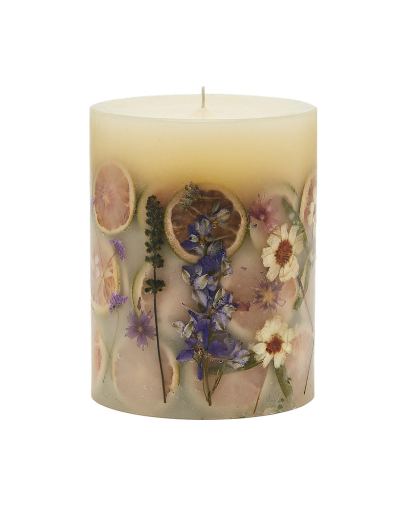 Medium Round Botanical Candle - Roman Lavender