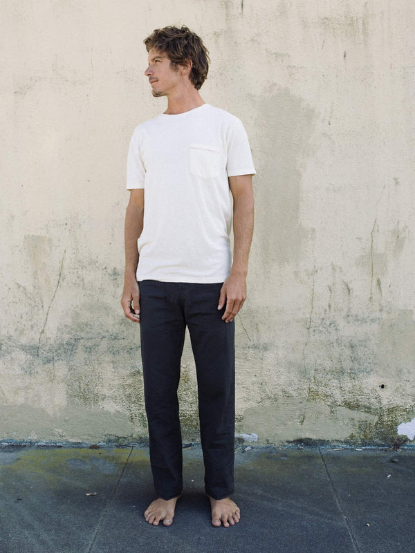 Hemp Pocket Tee - Natural