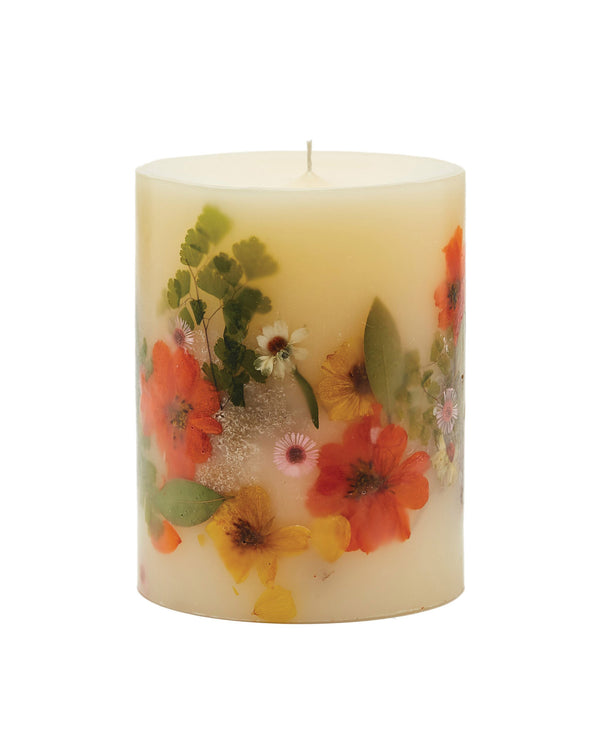 Medium Round Botanical Candle - Peony & Pomelo