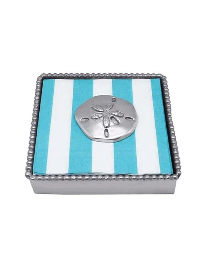 Sand Dollar Beaded Napkin Box