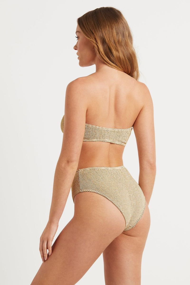 The Sahara Bandeau - White Lurex