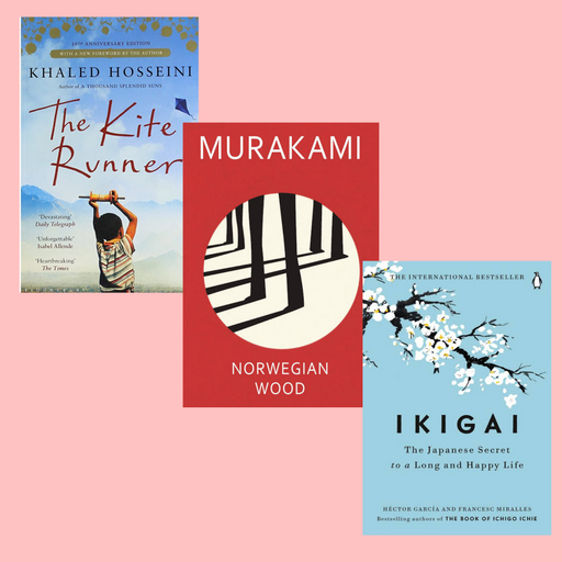 Books Combo (The Kite Runner, Norwegian Wood, Ikigai)- Paperback - eLocalshop