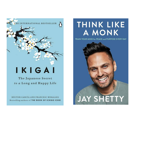 Ikigai & Think Like A Monk Combo