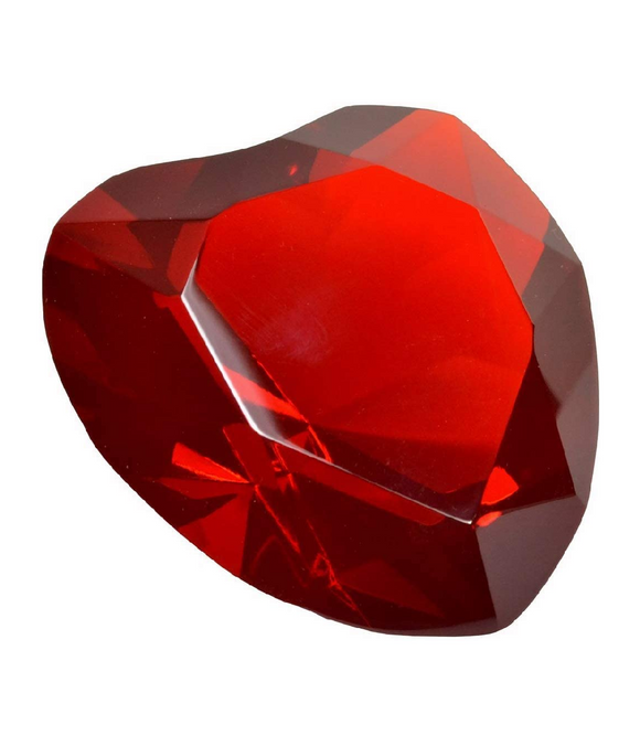 Crystal Paperweight (Red)