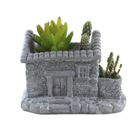 Old House Resin Succulent Planter Pot