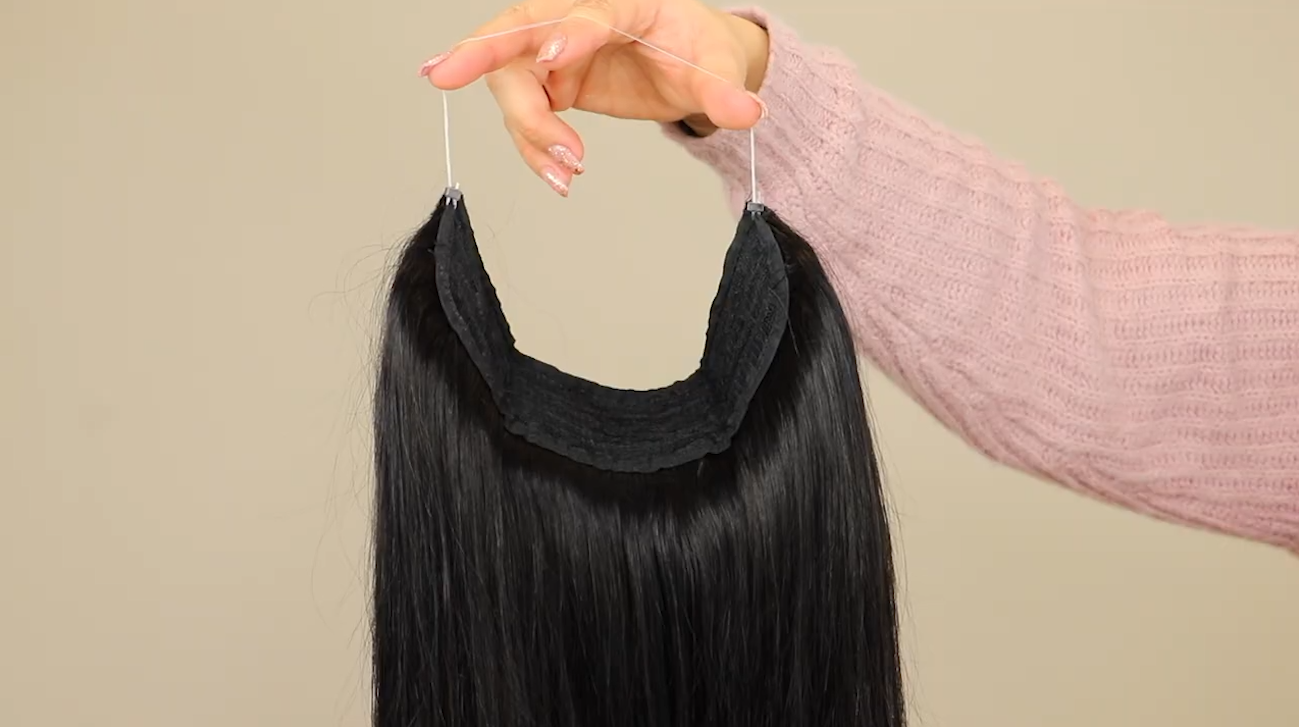 e-litchi halo human hair extension