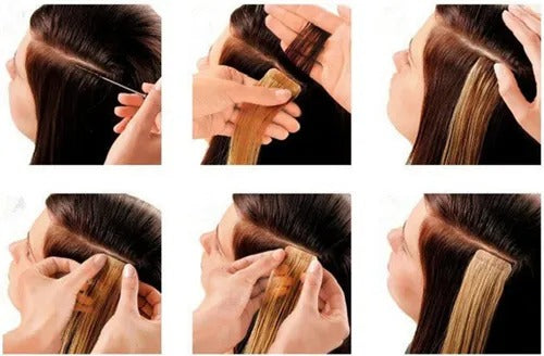 e-litchi tape in hair extension