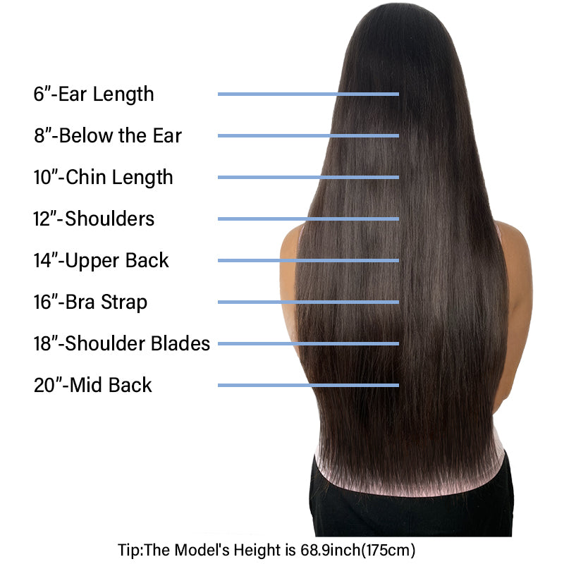 E-litchi Human Hair Extensions Size Guide