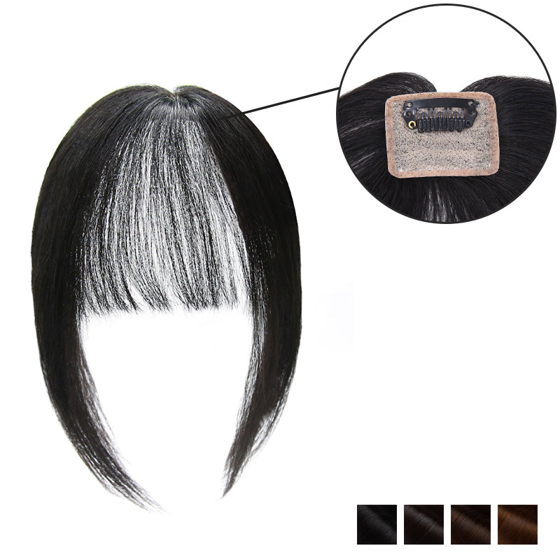 Human Hair Piece For Thinning Crown Clip In Black Brown & Blonde For Clearance