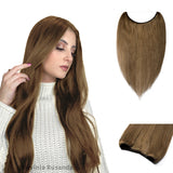 Brown Halo Human Hair Extension Light Volume