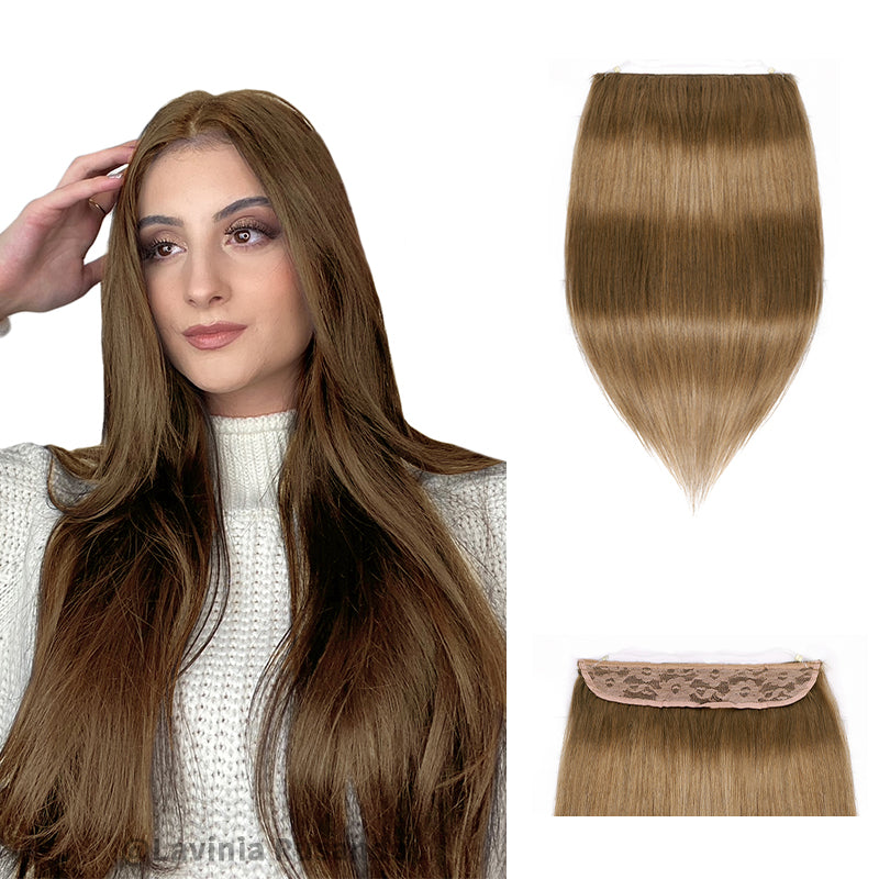 Halo Human Hair Extensions Full Volume All Shades