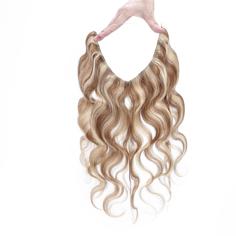 Halo Human Hair Extensions For Extra Length & Volume Body Wave Invisible All Shades