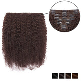 Curly Clip In Human Hair Extension Single Weft Full Volume All Shades