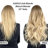 Highlights Halo Human Hair Extension Full Volume