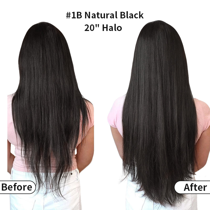 Black Halo Human Hair Extension Full Volume