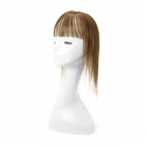 Human Hair Topper With Bang For Women Thinning Crown 6*9 Silk Base Light Brown