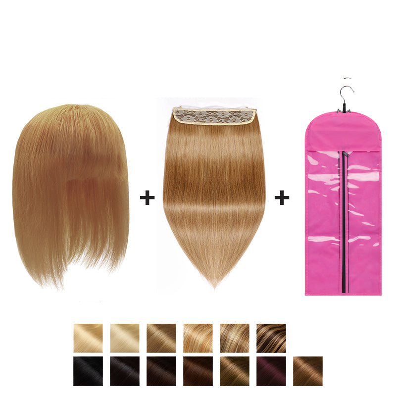 Extra 20% OFF-E-litchi Straight Light Auburn Bella's Wing Halo
