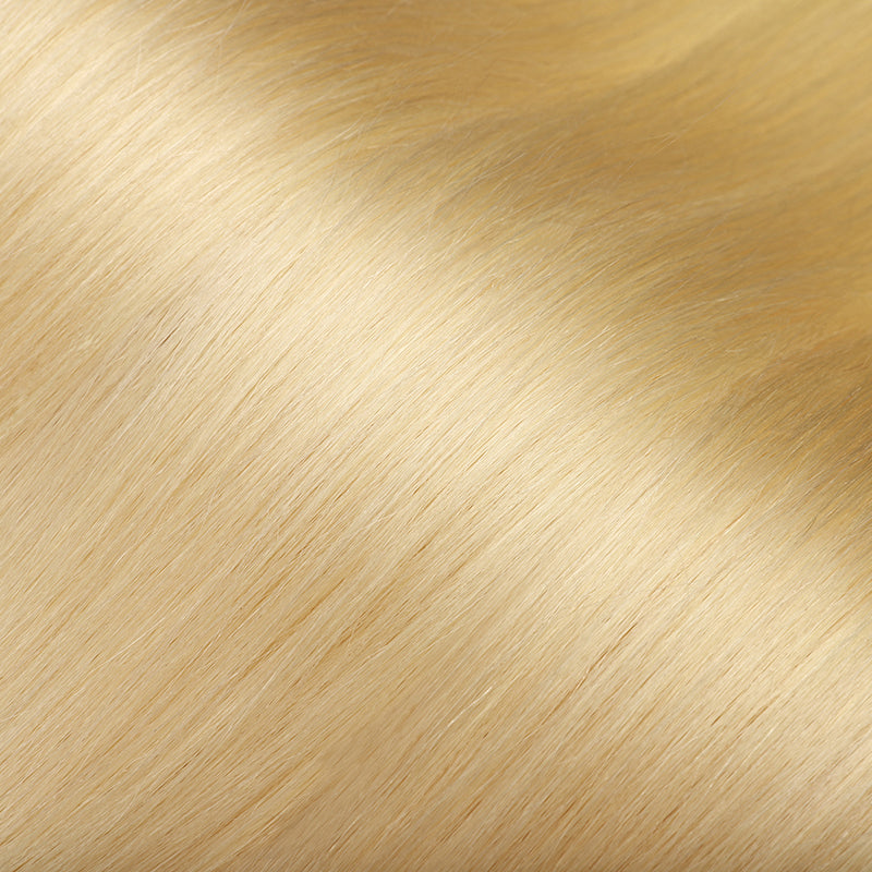 E-litchi Tape In Human Hair Extension Body Wave Platinum Blonde