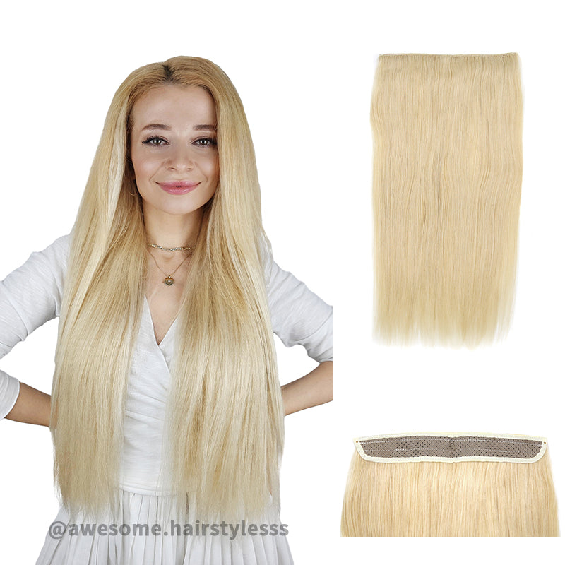 Blonde Halo Human Hair Extension For Thin Hair Full Volume