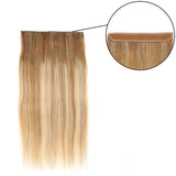 Balayage Halo Human Hair Extension For Thin Hair Full Volume