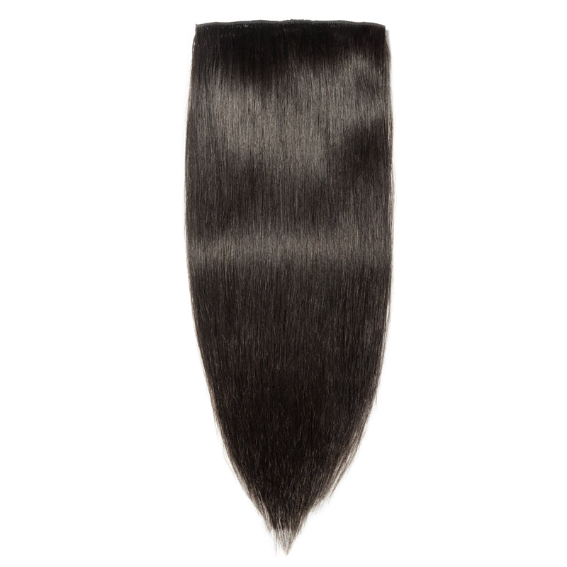 E-litchi Straight Natural Black Multi-Wefts Clip-Ins