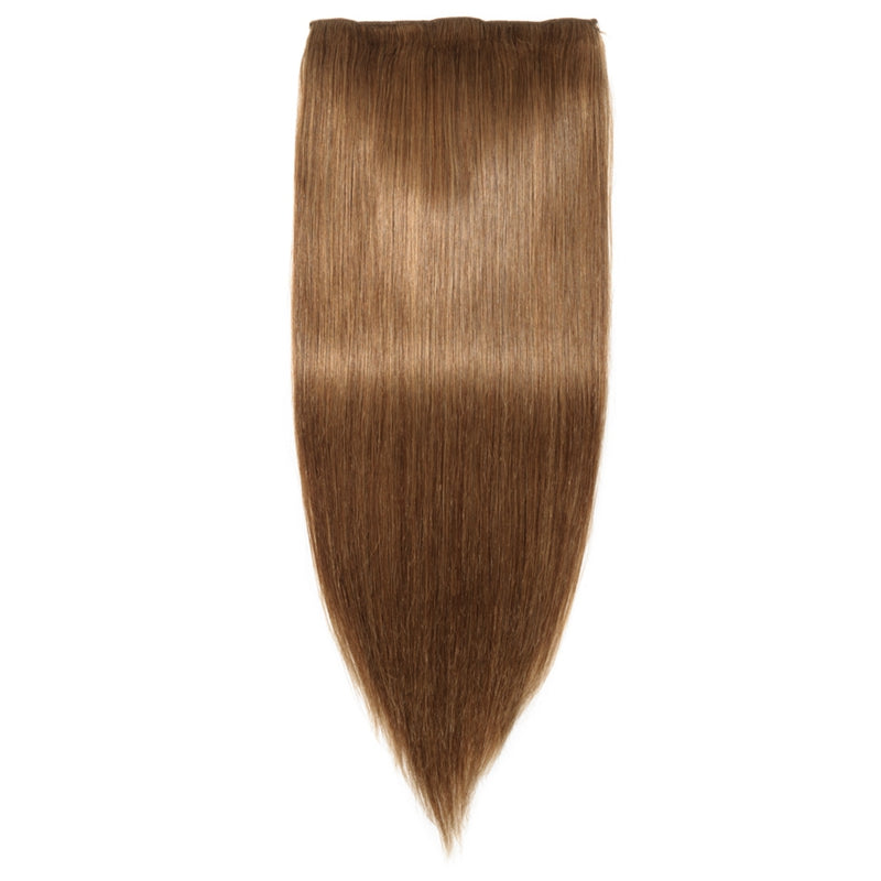 E-litchi Straight Light Brown Multi-Wefts Clip-Ins