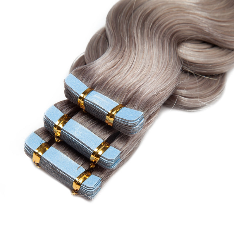 Body Wave Tape In Human Hair Extensions For Extra Length & Volume Invisible All Shades