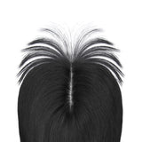 Human Hair Topper With Bang For Thinning Crown Medium Crown All Shades