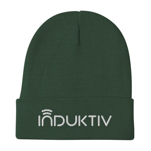 """INDUKTIV"" Logo Embroidered Beanie"