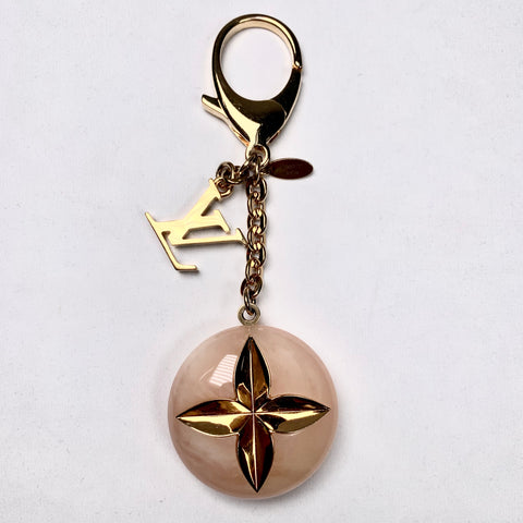 Louis Vuittton, bag charm, mother of pearl keyring