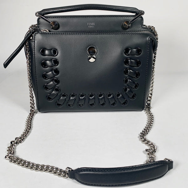Fendi, borsa Dot com in pelle