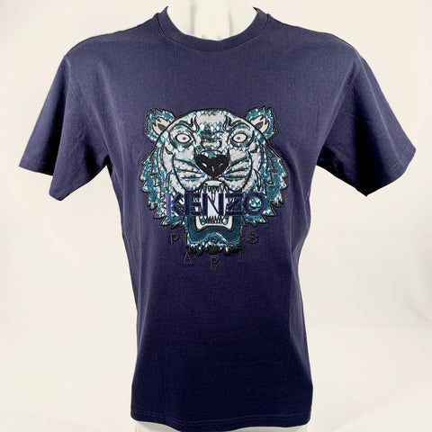 Kenzo, Tiger embroidery patch T-shirt, S over size