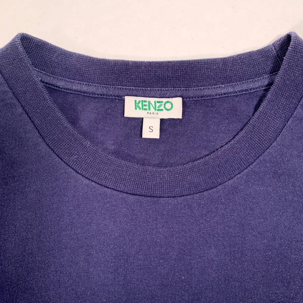 Kenzo, T-shirt patch ricamo tigre, S over size