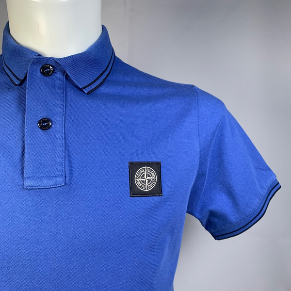 Stone Island, short sleeve polo shirt, logo patch on the chest, M