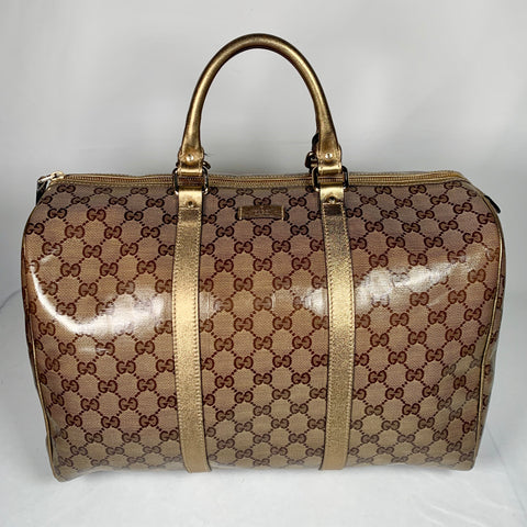 Gucci, borsa Joy maxi boston crystal gold
