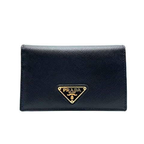 Prada Saffiano leather card and coin holder