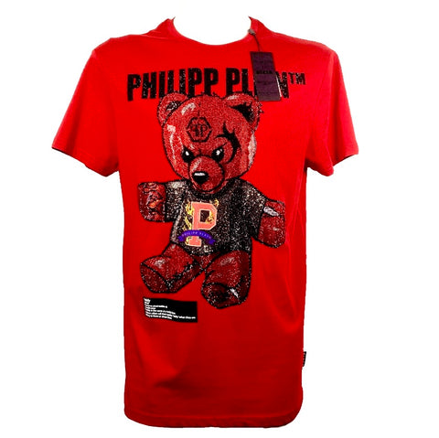 Philipp Plein Round Neck SS Teddy Bear t-shirt with crystals, L