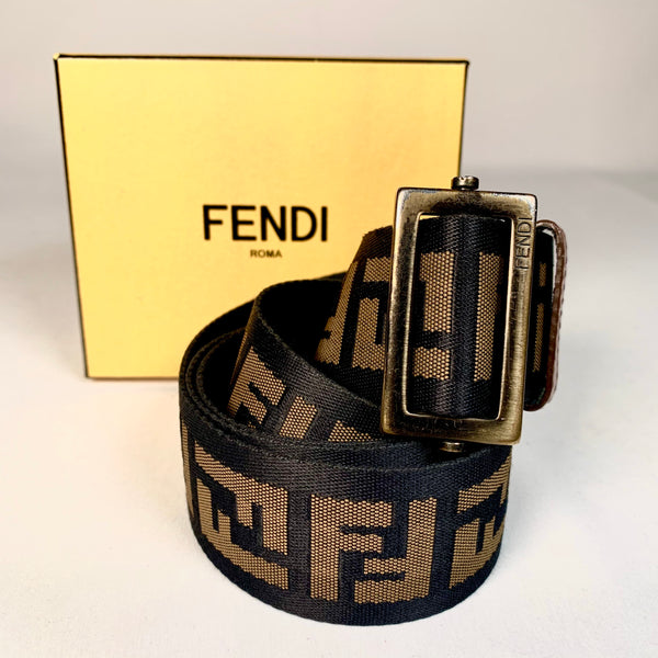 Fendi cintura in tela monogram FF