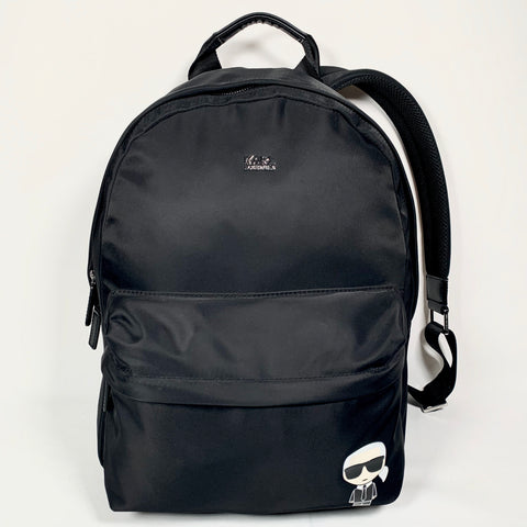 Karl Lagerfeld black nylon backpack