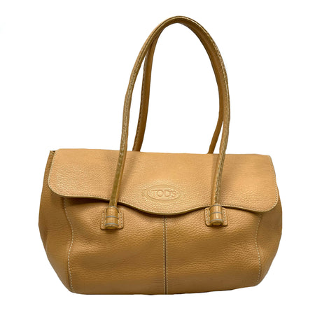 Tod's Hobo bag in pelle martellata color biscotto