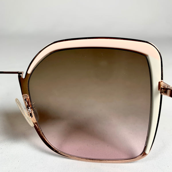 Fendi, occhiali da sole oversize rose gold