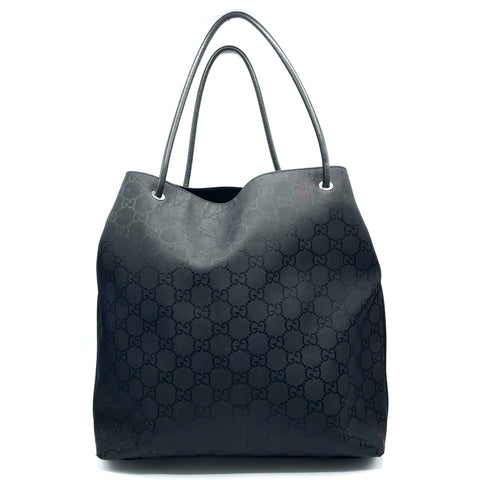 Gucci shopping bag in nylon nera GG Supreme