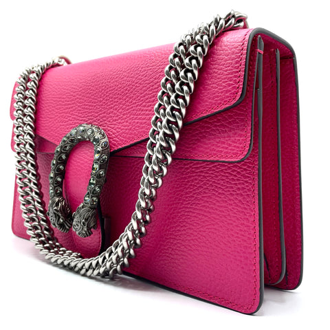 Gucci fuchsia leather Dionysus bag