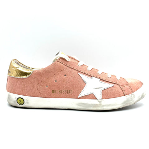 Golden goose superstar salmon pink