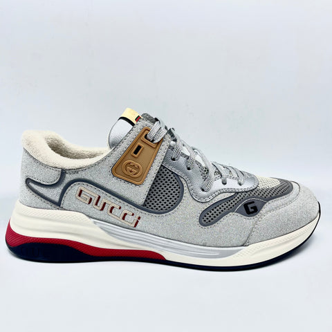 Gucci Ultraplace gray and silver sneakers, 43