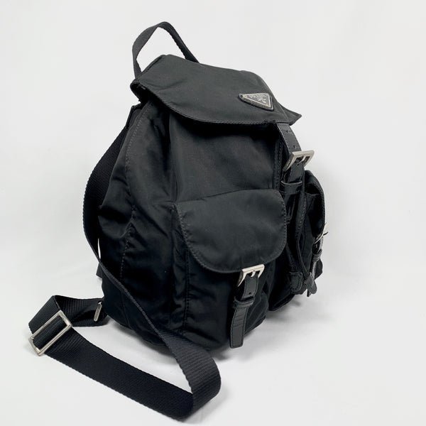 Prada nylon and leather backpack