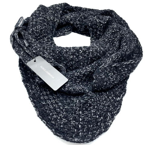 Dolce & Gabbana wool scarf with mélange effect